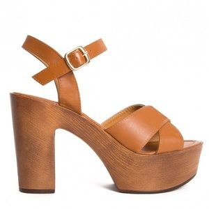Tan/brown Platform Heels